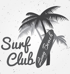 Surf club concept Summer surfing retro badge vector image