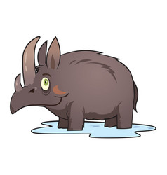 woolly rhinoceros vector image