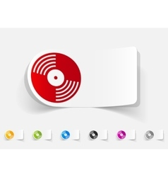 Realistic design element vinyl record vector