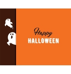 Halloween greeting cards banner with ghost vector image