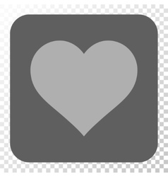 Love heart rounded square button vector