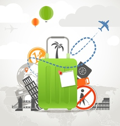 Vacation travelling vector