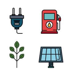 Energy resources design vector