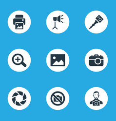 Set of simple photography vector