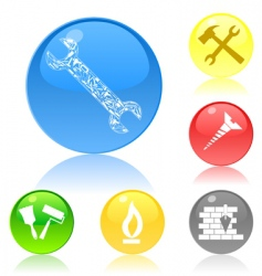 Tool icon buttons vector