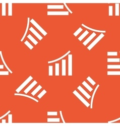Orange bar graphic pattern vector