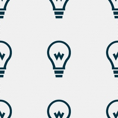 Light bulb icon sign seamless pattern with vector