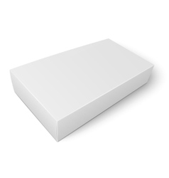 White flat paper box template vector