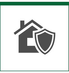 Property insurance icon vector