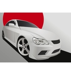 Tuning car in body kit vector