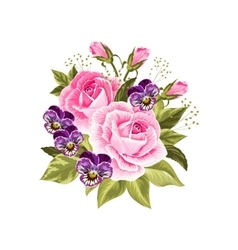 Beautiful bouquet isolated on white vector