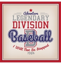 Legendary division baseball vector