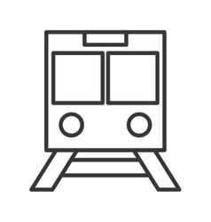 Subway train isolated icon design vector
