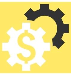 Bank Settings Flat Icon vector image
