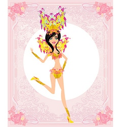 Beautiful carnival girl vector