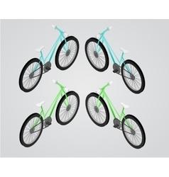 Bicycle isometric vector image vector image
