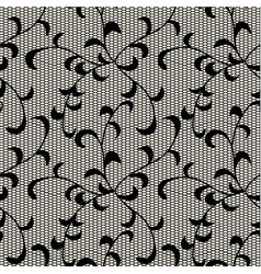 Black leaves lace pattern vector