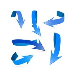 Blue Abstract Arrows Set vector image vector image