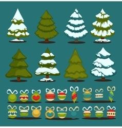 Christmas tree Set of christmas green trees and vector image vector image