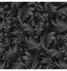 Empire seamless black paper pattern vector image vector image