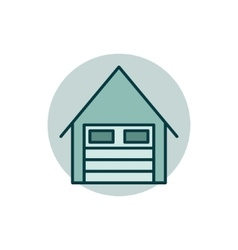 Garage flat icon vector