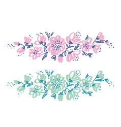 hand drawn shabby floral design vector image