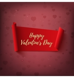 Happy valentines day red abstract banner on vector