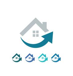 home arrow business logo vector image vector image