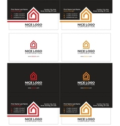 Home inside the house business card vector