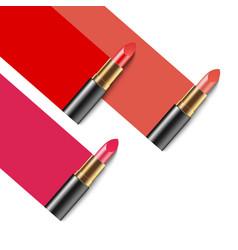 lipstick cosmetics makeup realistic 3d mock-up of vector image