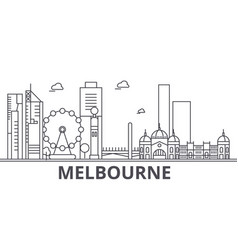melbourne architecture line skyline vector image