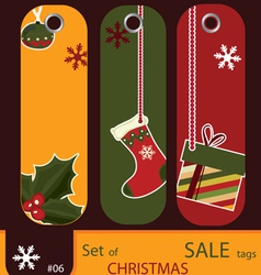 price tags for christmas vector image vector image