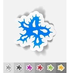 Realistic design element microbe vector