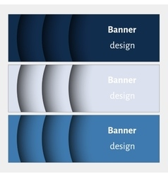Set of realistic abstract banners with shadows vector image vector image