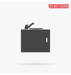 Sink simple flat icon vector