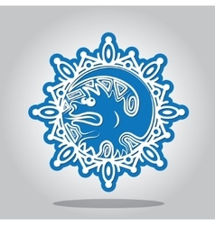 Snowflake of the Dragon on the Chinese zodiac vector image vector image