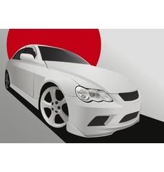 Tuning car in body kit vector image