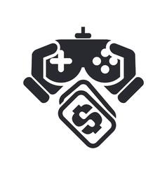 videogame price icon vector image