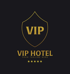 Vip hotel logo and emblem logo vector