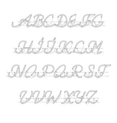 White neon uppercase script font vector