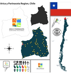Map of Arica y Parinacota vector image