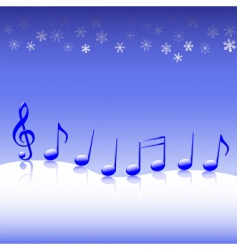 Christmas carol music on snow vector