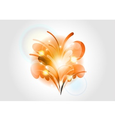 Abstract flower orange light vector