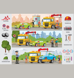 transport evacuation infographic template vector image