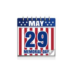 Memorial day calendar 2017 vector