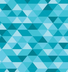 Blue triangle pattern background vector