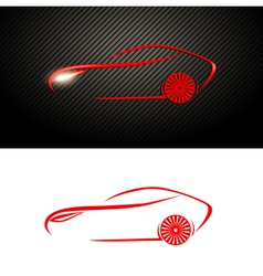 Abstract red car design vector