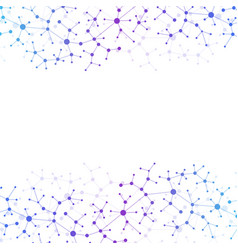 Modern structure molecule dna atom molecule and vector