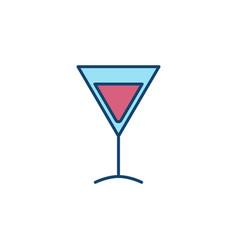 Martini glass colorful icon vector