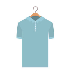 colorful silhouette of polo shirt short sleeve man vector image